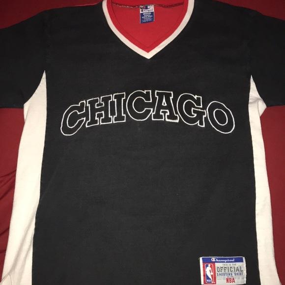 san francisco 1fe99 12061 1996 Chicago Bulls Shooting Shirt. VINTAGW